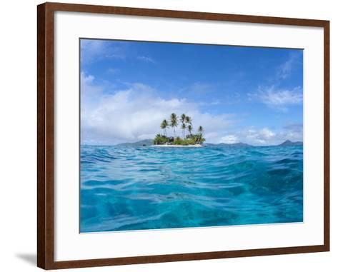 Tropical island, Micronesia--Framed Art Print