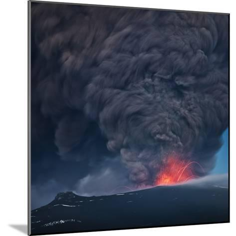 Ash plume from the Eyjafjallajokull eruption--Mounted Photographic Print