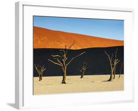 Bare trees at Dead Vlei-Frank Krahmer-Framed Art Print