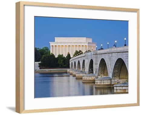 Arlington Memorial Bridge and Lincoln Memorial in Washington, DC-Rudy Sulgan-Framed Art Print
