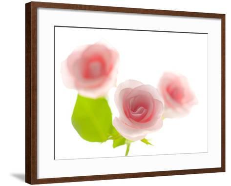 Pink rose-Kiyoshi Miyagawa-Framed Art Print