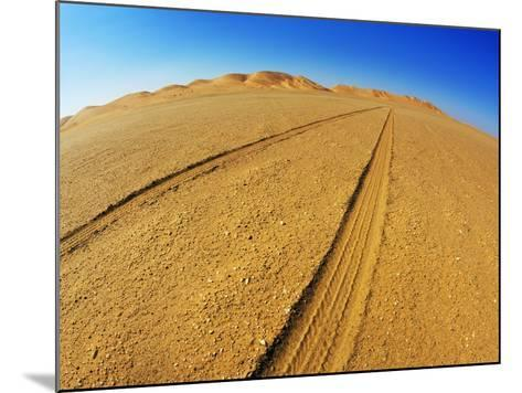 Tire tracks in the sand-Frank Krahmer-Mounted Photographic Print