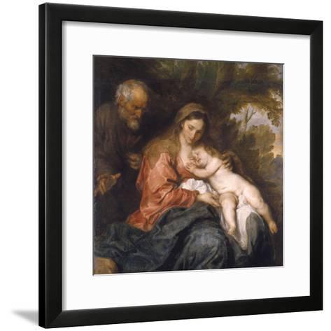 Rest on the Flight into Egypt by Anthony van Dyck--Framed Art Print