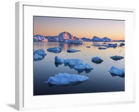 Icebergs in Disko Bay-Frank Krahmer-Framed Art Print