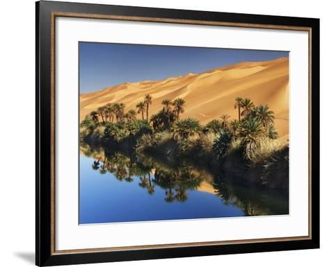 Dune rising from Um el Ma Lake-Frank Krahmer-Framed Art Print