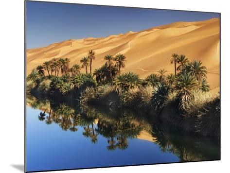 Dune rising from Um el Ma Lake-Frank Krahmer-Mounted Photographic Print