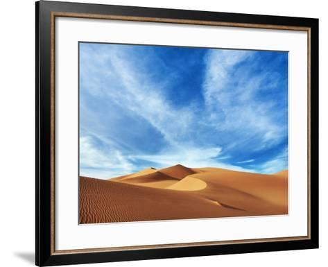 Sand dunes in Erg Admer in Algeria-Frank Krahmer-Framed Art Print