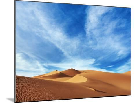 Sand dunes in Erg Admer in Algeria-Frank Krahmer-Mounted Photographic Print