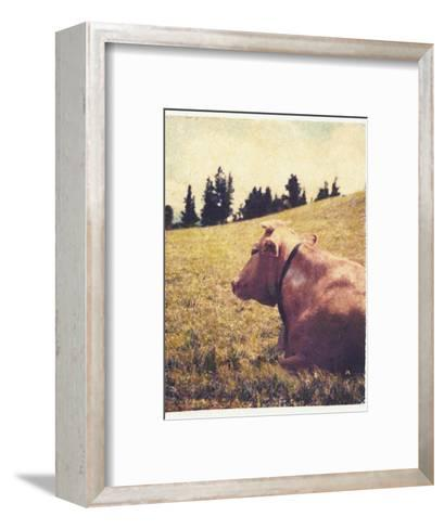 Alpine Cow No.2-Jennifer Kennard-Framed Art Print
