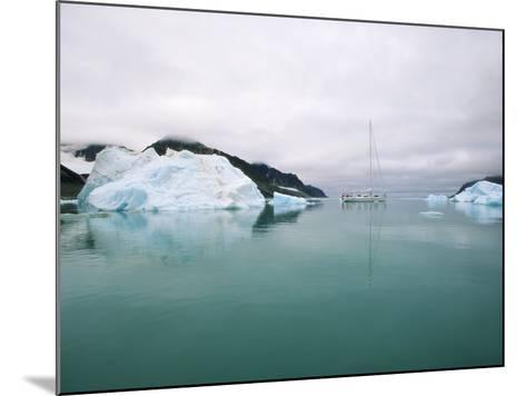Sailboat Cruising the Arctic-Onne van der Wal-Mounted Photographic Print