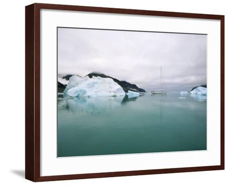 Sailboat Cruising the Arctic-Onne van der Wal-Framed Art Print