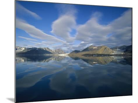 Arctic Skyline Reflecting in Water-Onne van der Wal-Mounted Photographic Print