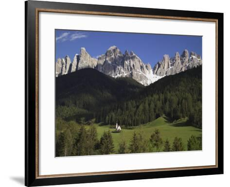 St. Giovanni Church in Val di Funes-Richard Klune-Framed Art Print