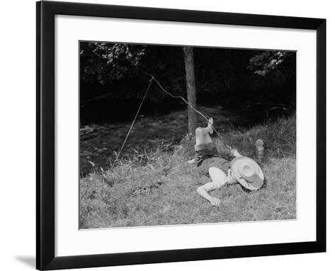 Boy Fishing in the Country-Bettmann-Framed Art Print