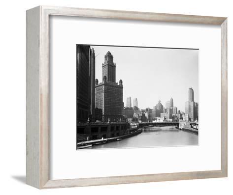 Chicago Skyline and River-Bettmann-Framed Art Print