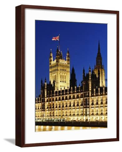 Victoria Tower and Houses of Parliament-Rudy Sulgan-Framed Art Print