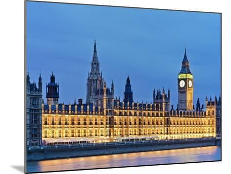 Big Ben Clock Tower and Houses of Parliament-Rudy Sulgan-Mounted Photographic Print