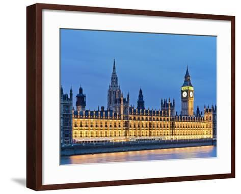 Big Ben Clock Tower and Houses of Parliament-Rudy Sulgan-Framed Art Print