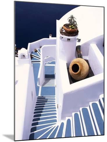 Stairway of a Whitewashed Church-Jonathan Hicks-Mounted Photographic Print