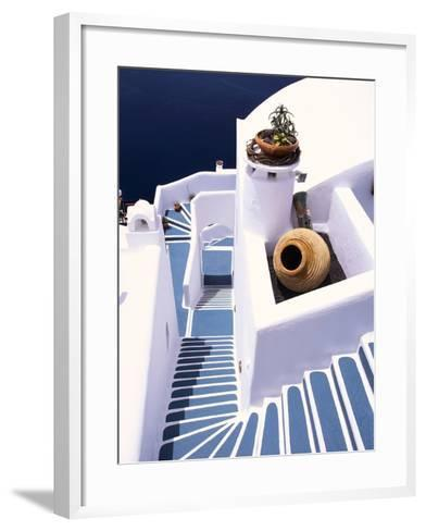 Stairway of a Whitewashed Church-Jonathan Hicks-Framed Art Print