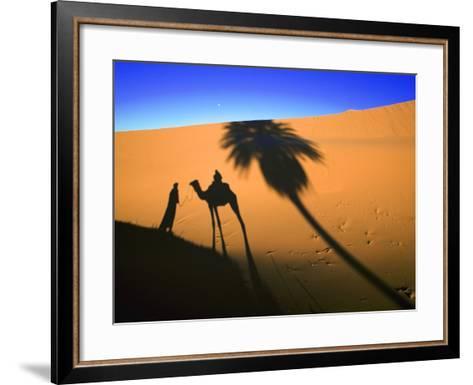Shadow of Camel and Palm Tree-Martin Harvey-Framed Art Print