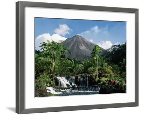 Tabacon Hot Springs and Volcan Arenal-Kevin Schafer-Framed Art Print