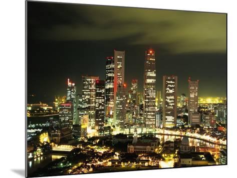 Metropolitan Singapore at Night--Mounted Photographic Print