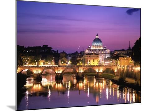 Sant'Angelo Bridge over Tiber River-Dennis Degnan-Mounted Photographic Print