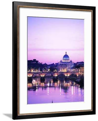 Sant'Angelo Bridge over Tiber River-Dennis Degnan-Framed Art Print