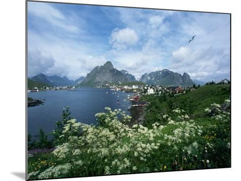 View of Fishing Village and Island-Kevin Schafer-Mounted Photographic Print