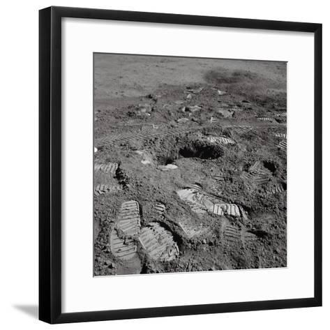 Footprints on the Surface of the Moon--Framed Art Print