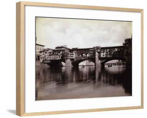 Ponte Vecchio over the River Arno in Florence-Bettmann-Framed Art Print
