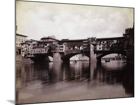Ponte Vecchio over the River Arno in Florence-Bettmann-Mounted Photographic Print