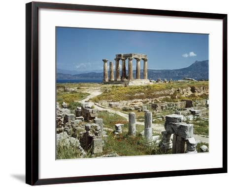 Distant View of the Temple of Apollo at Corinth-Bettmann-Framed Art Print