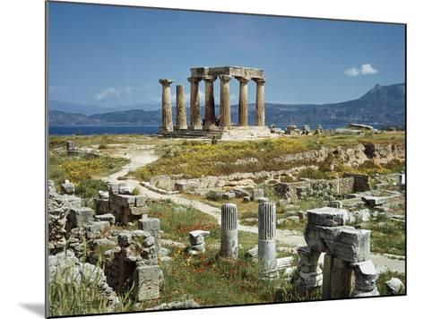 Distant View of the Temple of Apollo at Corinth-Bettmann-Mounted Photographic Print