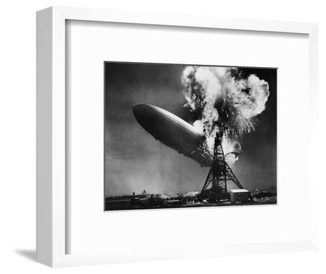 Hindenburg Explosion-Bettmann-Framed Art Print