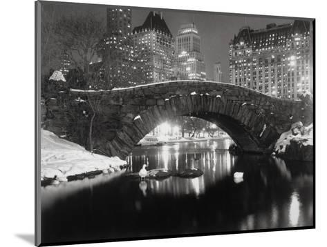 New York Pond in Winter-Bettmann-Mounted Photographic Print