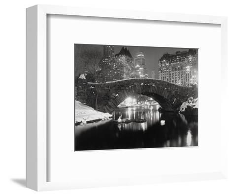 New York Pond in Winter-Bettmann-Framed Art Print