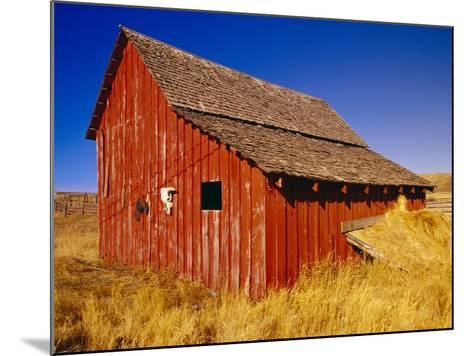 Weathered Old Barn on Ranch-Terry Eggers-Mounted Photographic Print