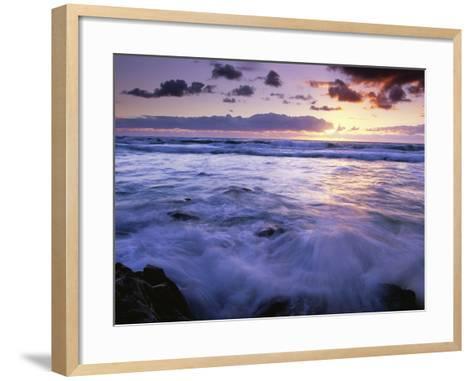 Fraser Island Coast at Sunrise-Theo Allofs-Framed Art Print