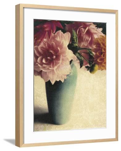 Patrick's Dahlias-Jennifer Kennard-Framed Art Print