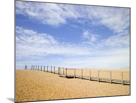 Boardwalk at Chesil Beach in Dorset-Mark Bolton-Mounted Photographic Print