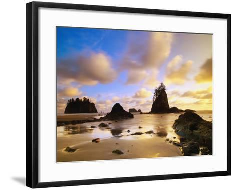 Sea Stacks Off Second Beach-Ron Watts-Framed Art Print