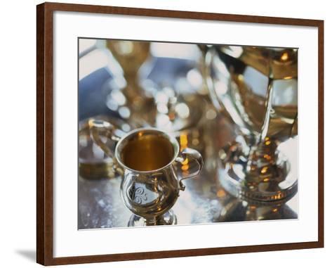 Silver Tea Service-Terry Vine-Framed Art Print