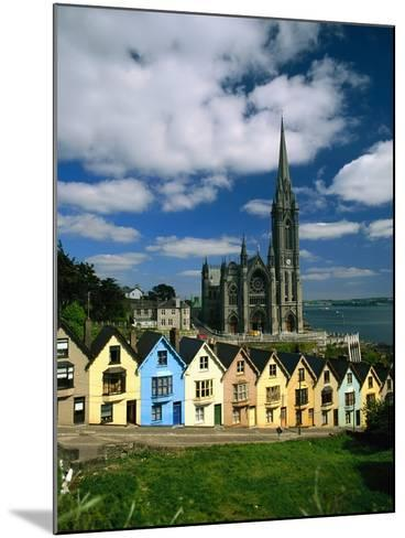 St. Coleman's Cathedral of Cobh Behind Colorful Row Houses-Charles O'Rear-Mounted Photographic Print
