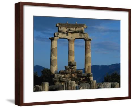 Temple of Tholos in the Sanctuary of Athena-Jim Zuckerman-Framed Art Print