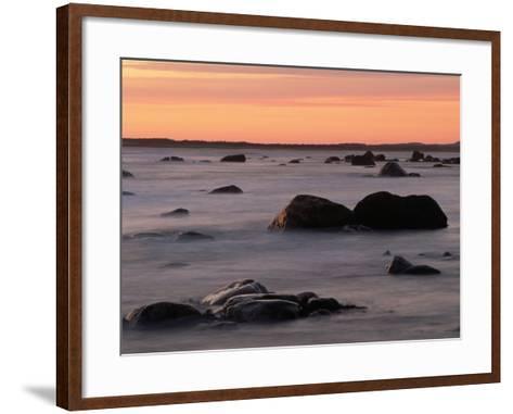 Erratics at Sunset-Raymond Gehman-Framed Art Print