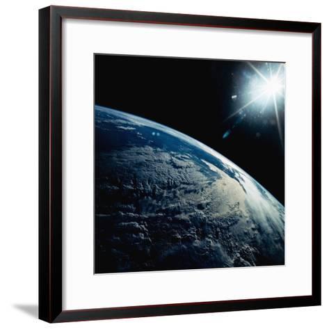Earth Seen from Space Shuttle Discovery-Bettmann-Framed Art Print