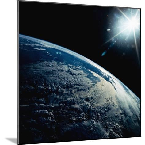 Earth Seen from Space Shuttle Discovery-Bettmann-Mounted Photographic Print