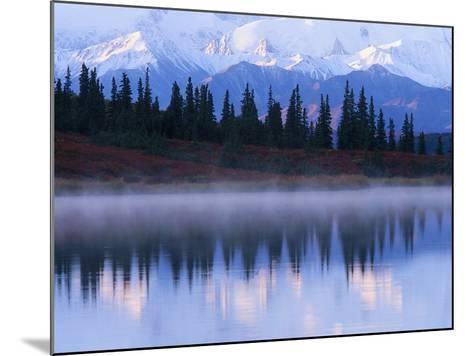 Alaskan Range Reflected in Wonder Lake-Jeff Vanuga-Mounted Photographic Print